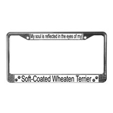 """Soft-Coated Wheaten Terrier"" License Plate Frame"