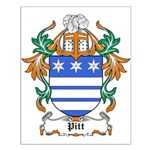 Pitt Coat of Arms Small Poster