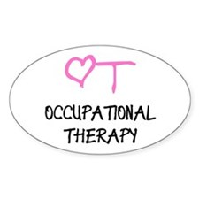 OT Pink Heart Oval Decal