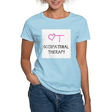 OT Pink Heart Women's Colored T-Shirt