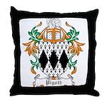 Pigott Coat of Arms Throw Pillow