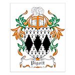 Pigott Coat of Arms Small Poster