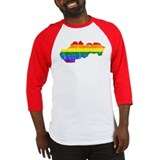 Slovakia Rainbow Pride Flag And Map Baseball Jerse