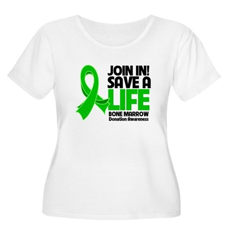 Save a Life Bone Marrow Women's Plus Size Scoop Ne