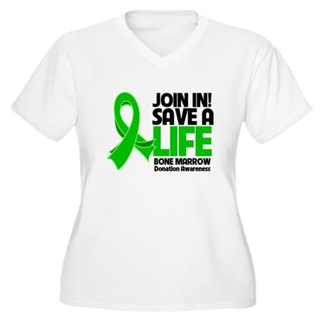 Save a Life Bone Marrow Women's Plus Size V-Neck T