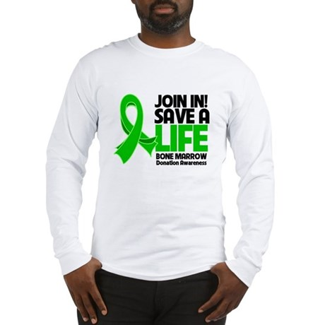 Save a Life Bone Marrow Long Sleeve T-Shirt