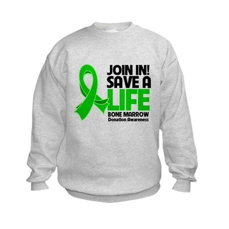 Save a Life Bone Marrow Kids Sweatshirt