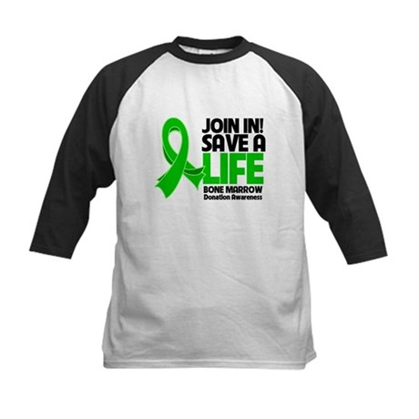 Save a Life Bone Marrow Kids Baseball Jersey