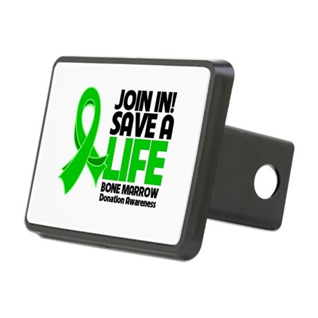 Save a Life Bone Marrow Rectangular Hitch Cover
