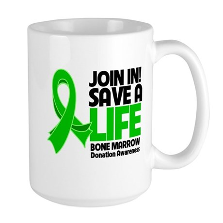 Save a Life Bone Marrow Large Mug