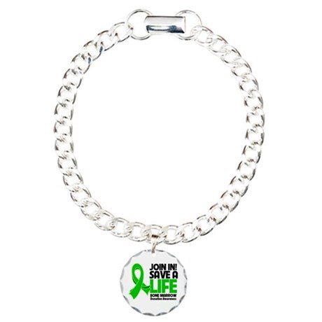 Save a Life Bone Marrow Charm Bracelet, One Charm