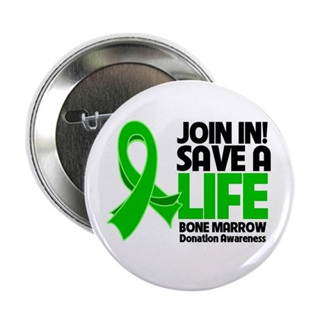 "Save a Life Bone Marrow 2.25"" Button (10 pack)"
