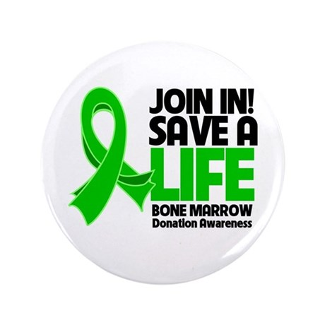 "Save a Life Bone Marrow 3.5"" Button (100 pack)"