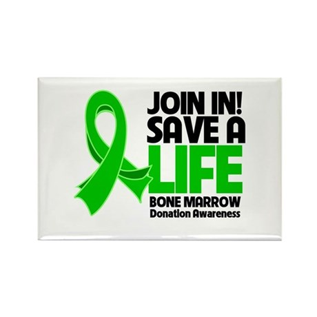 Save a Life Bone Marrow Rectangle Magnet (100 pack