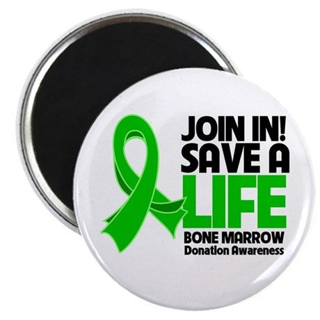 "Save a Life Bone Marrow 2.25"" Magnet (10 pack)"