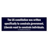 Liberals taking liberties Bumper Sticker