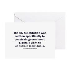 Liberals taking liberties Greeting Card