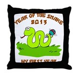 Born Year of The Snake 2013 Throw Pillow