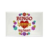 BINGO Happy Rectangle Magnet (100 pack)