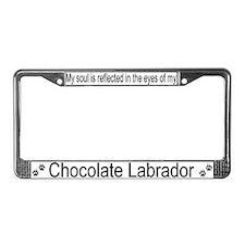 """Chocolate Labrador"" License Plate Frame"