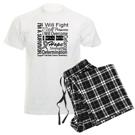 Carcinoid Cancer Persevere Men's Light Pajamas