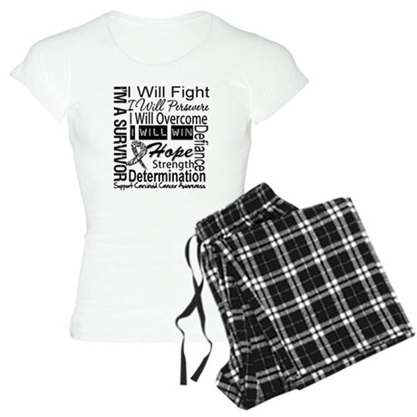 Carcinoid Cancer Persevere Women's Light Pajamas