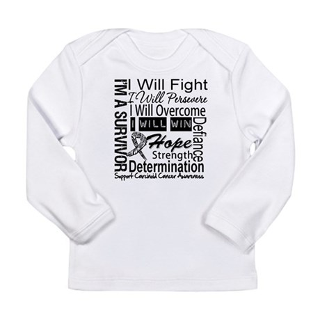 Carcinoid Cancer Persevere Long Sleeve Infant T-Sh
