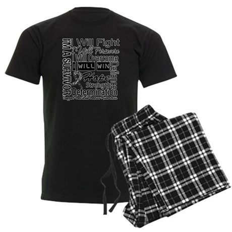 Carcinoid Cancer Persevere Men's Dark Pajamas
