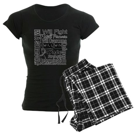 Carcinoid Cancer Persevere Women's Dark Pajamas
