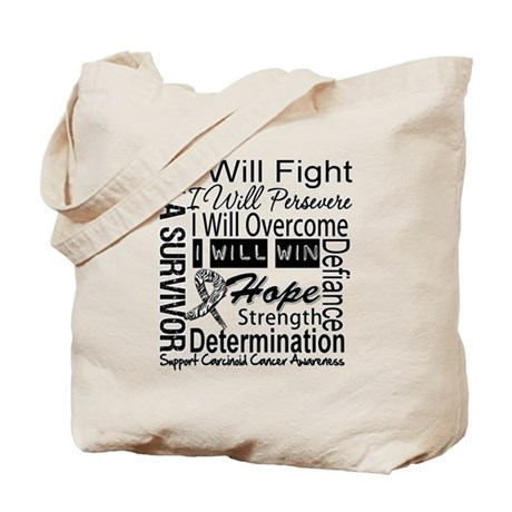 Carcinoid Cancer Persevere Tote Bag