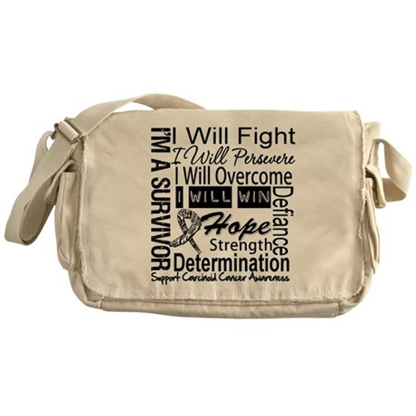 Carcinoid Cancer Persevere Messenger Bag