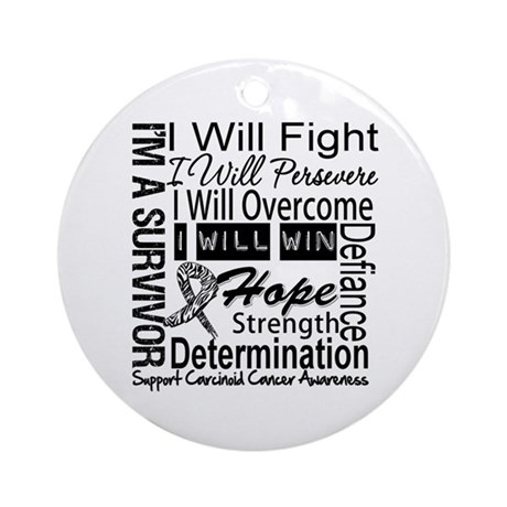 Carcinoid Cancer Persevere Ornament (Round)