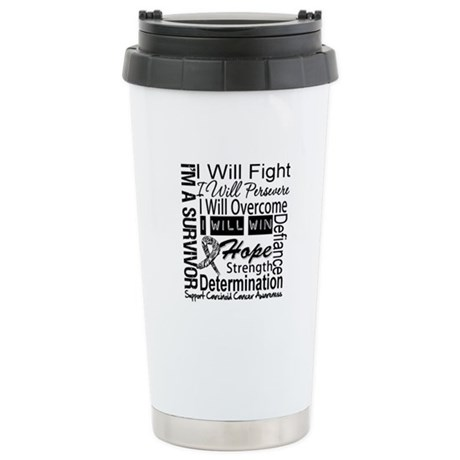 Carcinoid Cancer Persevere Ceramic Travel Mug