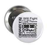 Carcinoid Cancer Persevere 2.25&quot; Button (100 pack)