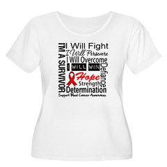 Blood Cancer Persevere Women's Plus Size Scoop Nec
