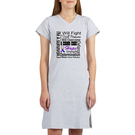 Bladder Cancer Persevere Women's Nightshirt