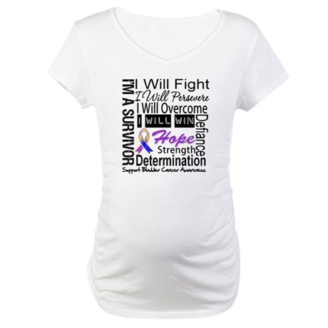 Bladder Cancer Persevere Maternity T-Shirt