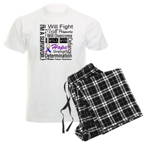 Bladder Cancer Persevere Men's Light Pajamas
