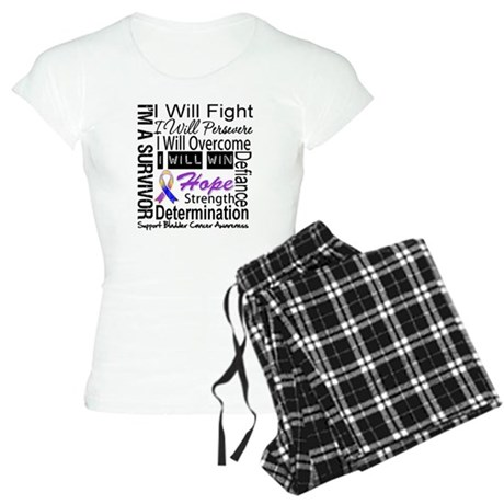 Bladder Cancer Persevere Women's Light Pajamas