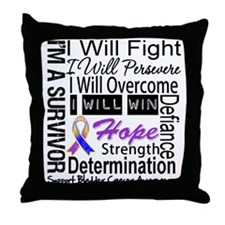 Bladder Cancer Persevere Throw Pillow