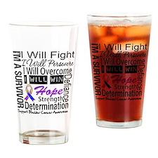 Bladder Cancer Persevere Drinking Glass