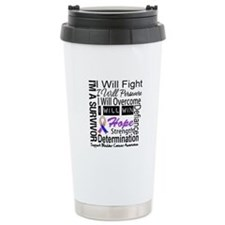 Bladder Cancer Persevere Ceramic Travel Mug
