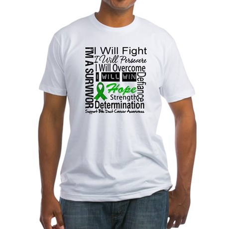 Bile Duct Cancer Perseverance Fitted T-Shirt