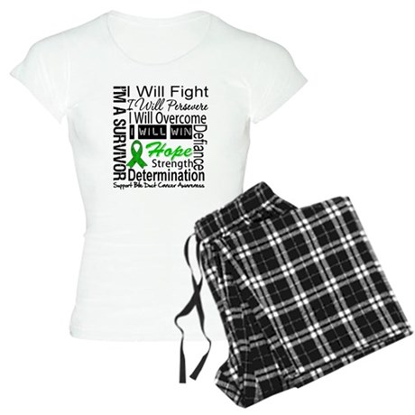 Bile Duct Cancer Perseverance Women's Light Pajama