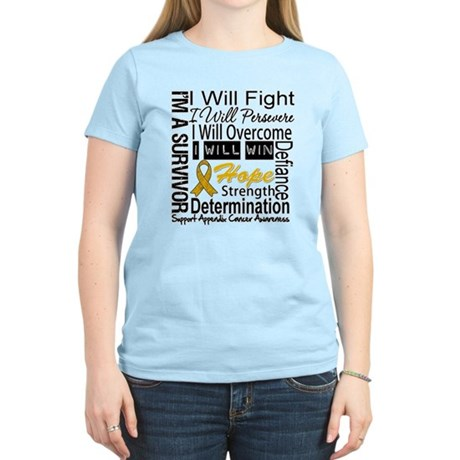 Appendix Cancer Perseverance Women's Light T-Shirt