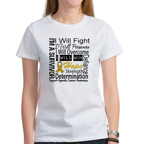 Appendix Cancer Perseverance Women's T-Shirt