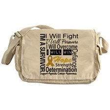 Appendix Cancer Perseverance Messenger Bag