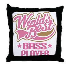Bass Player (Worlds Best) Throw Pillow