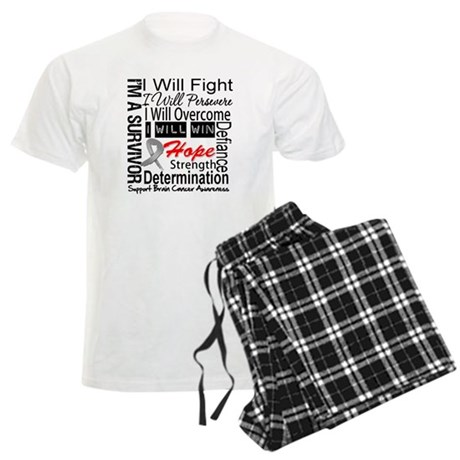 Brain Cancer Persevere Men's Light Pajamas