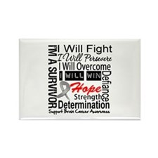 Brain Cancer Persevere Rectangle Magnet